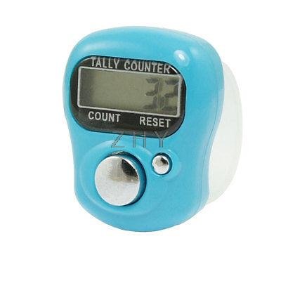 Clear Soft Band Sky Blue Plastic Case LCD Display Electronic Finger Counter Tool(China (Mainland))
