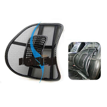 lumbar cushion massage cool Black mesh lumbar back brace support for office home car seat chair