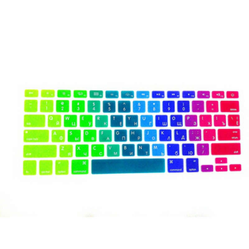 15pcs Rainbow RUSSIAN Silicone US Keyboard Cover Skin Protective FILM For Apple MacBook Pro air 13 15 17 For Mac air 13 inch<br><br>Aliexpress