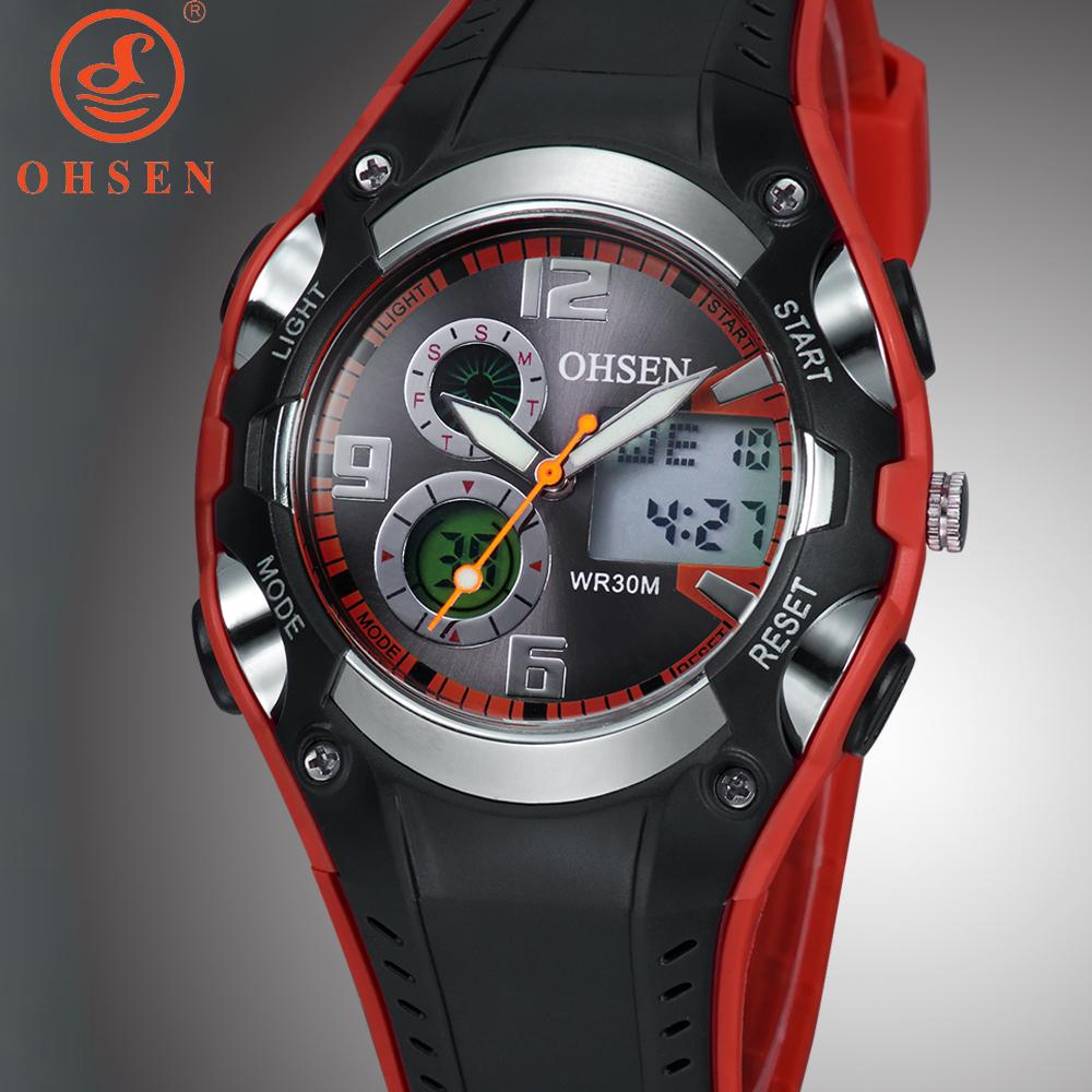 New 2015 OHSEN Men Sports Watch Casual Dress Watches Analog Digital Quartz Waterproof Dive Military Watch Relogio Masculino 1309(China (Mainland))