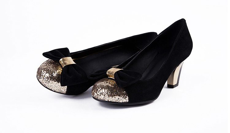 ENMAYER Basic round toe Cone Heels Bowtie sweet pumps Sheep suede+special fabrics shoes for women slip-on black blue women pumps<br><br>Aliexpress
