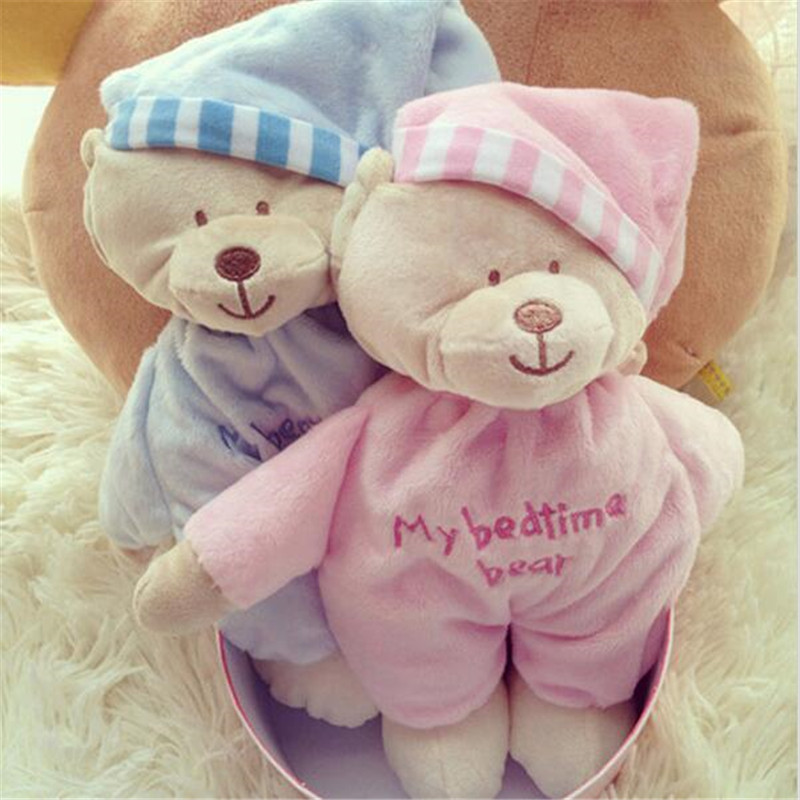 Animal Bear Baby Plush Bear Toy Soft Gift For Baby Child Newborn Boy Girl For Children Pink and Blue Baby Toys 0-12 Months Z25<br><br>Aliexpress