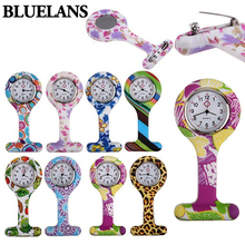 Hot 2016 Fashion Patterned Silicone Nurses Brooch Tunic Fob Pocket Watch Stainless Dial 7QNS(China (Mainland))