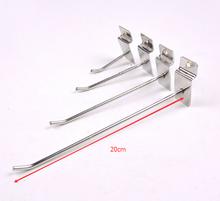 20cm 50pcs slot board hook shelf plate hooks board mobile phone accessories pit board hanger strip hook furniture accessories(China (Mainland))