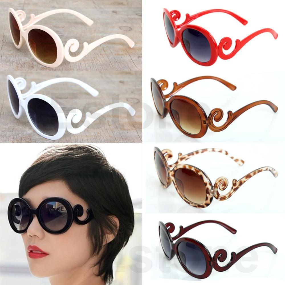 Hot Sale 1PC Retro-inspired Womens Butterfly Clouds Arms Sunglasses Semi Tranparent Round Sun Glasses(China (Mainland))