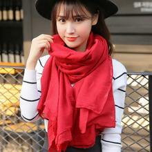 The new design of lady spring long paragraph all-match solid color fashion shawl dual purpose South Korean silk scarves(China (Mainland))