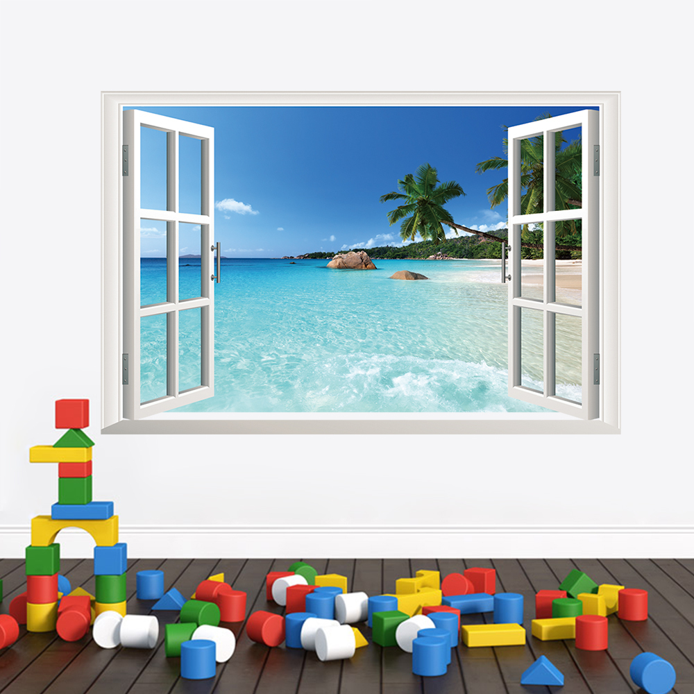 buy 3d window beautiful landscape wall