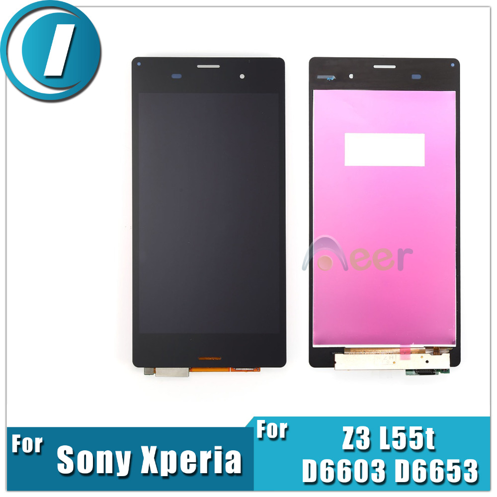 Newest 5.2 inch LCD Display For Sony Xperia Z3 L55t D6603 D6653 Digitizer Touch Screen Assembly Replacement Repairs Parts(China (Mainland))