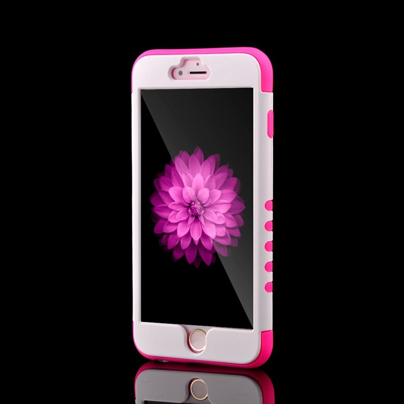 Luxury 3 in 1 High Quality Dual Layer Hard Case For iphone 6 6S Plus 5.5 Silicone Luxury Heavy Duty Armor Hybird Clear Cover