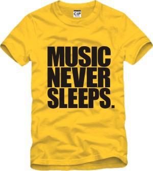 Music Never Sleeps Jason Chen Printed Mens Men T Shirt Tshirt Fashion 2015 New Short Sleeve O Neck Cotton T-shirt Tee(China (Mainland))
