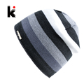 2017 Men s Skullies Hat Bonnet Winter Beanie Knitted Wool Hat Plus Velvet Cap Thicker Stripe