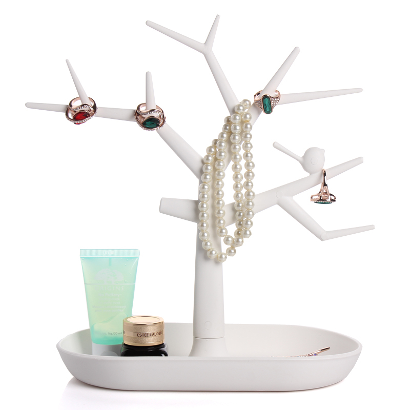 2015 new multifunctional tree branch shape White color jewelry display earring bracelet necklace ring display stand(China (Mainland))