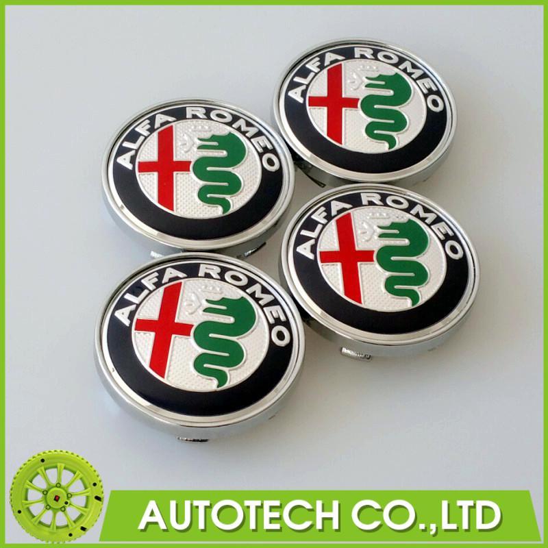 20Pcs/Lot 60mm Blue Silver ALFA ROMEO Emblem Badge Wheel Hub Caps Center Cover ALFA ROMEO 4C Spider 147 GTA Giulietta(China (Mainland))