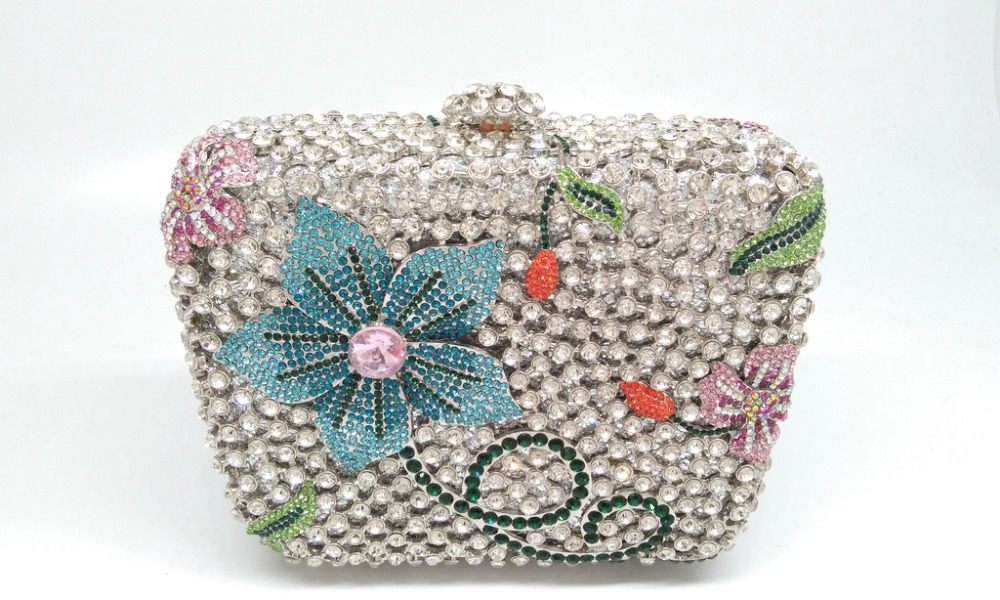 5Colors Snake Chains China AAA Luxury Crystal Ladies Wedding Party Day Clutches Rhinestones Women Evening Purses Handbags Bag(China (Mainland))