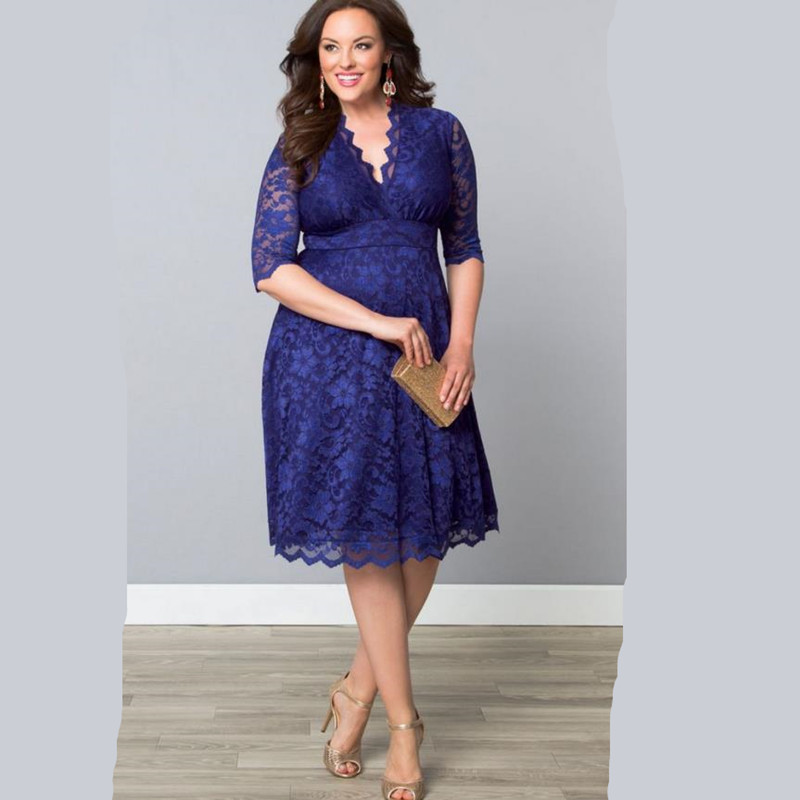 Women's Plus Size White Lace Dresses 2015 Spring New Women Big Size Elegant Dress 3XL 4XL 5XL 6XL Clothes Hot Sale