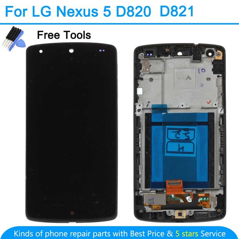 для LG Гугл Nexus 5 D821 и d820 сенсорный ЖК-экран digitizer Ассамблеи черный