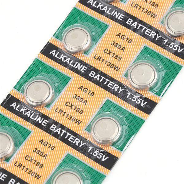 10Pcs AG10 LR1130 389A LR54 L1131 189 Cell Button Battery Newest