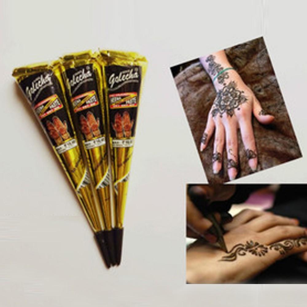 hot 25g India Edition Kashmir Imports Henna Natural Jet Black Plant Henna Temporary Tattoos machine airbrush face glowing paint(China (Mainland))