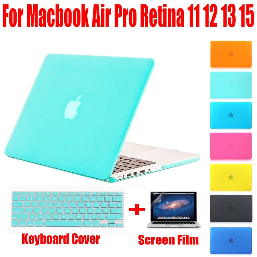 NEW Fashion PC Hard Matte Case Cover For Apple macbook Air Pro Retina 11 12 13 15 laptop bag For Mac book 13.3 inch MB01(China (Mainland))