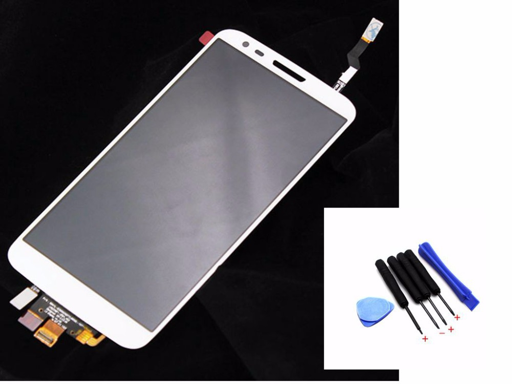White 100% Tested For LG G2 D802 LCD Display Touch Screen Digitizer Assembly Replacement, Free shipping !!!