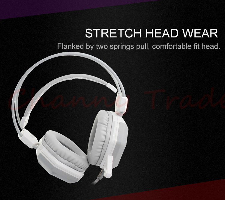XIBERIA V6 Over-ear Stereo Gaming Headset headband LED Light Headset Gamer PC USB Computer Earphones Headphone With Microphone