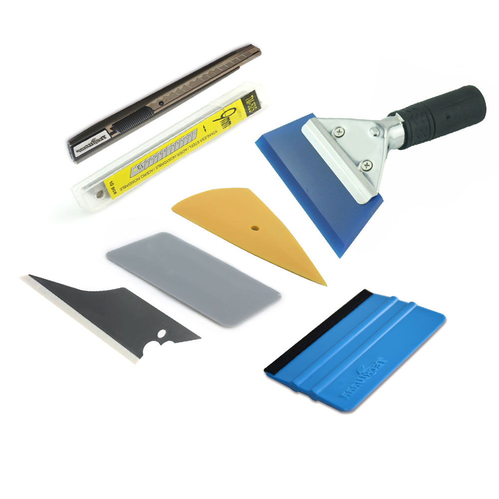 Professional Installation Tool Kit for Auto Car Window Solar Film Trim with Handled Rubber Squeegee 1 Set 7 piece TM-TZ03-K(China (Mainland))