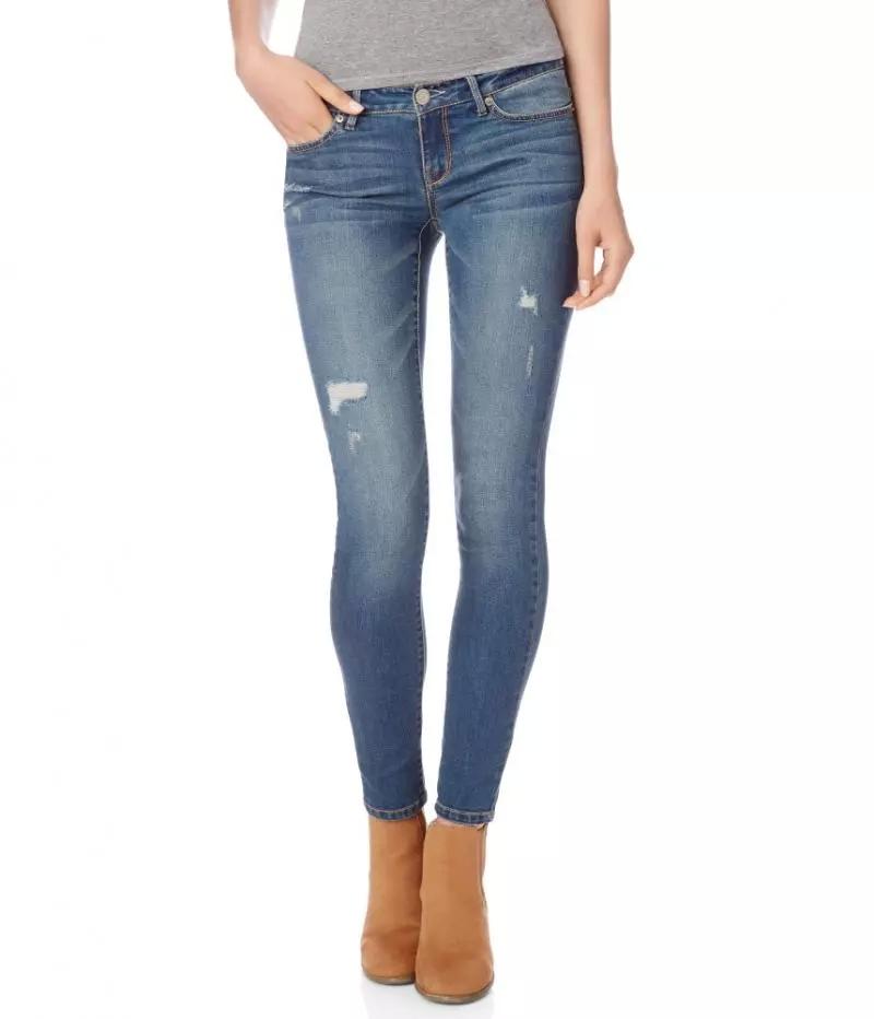 New Arrival Brand Mid Waist jeans Women Straight Ripped Slim Pencil Skinny Denim Fashion Casual ...