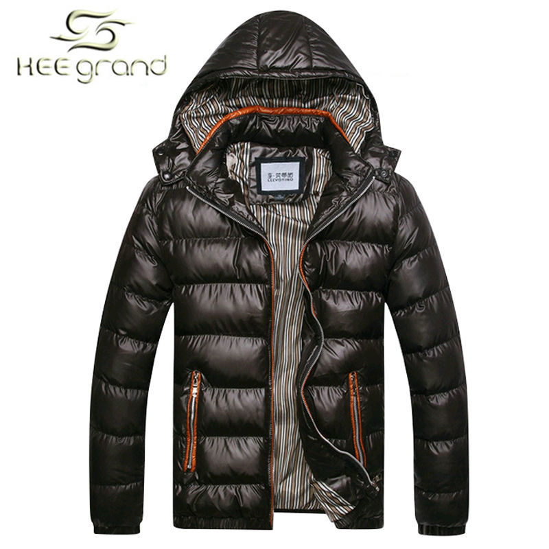 New Arrival Men Winter Fashion Casual Down Parka Hooded  Man Coat Jacket Windproof High Quality Plus Size MWM516