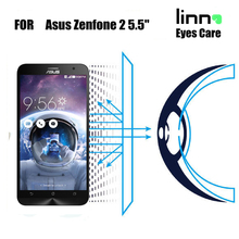 For Zenfone 2 5.5 inch protective film Eye Care 9H 2.5D anti UV anti blue light Tempered Glass Screen Protector free shipping