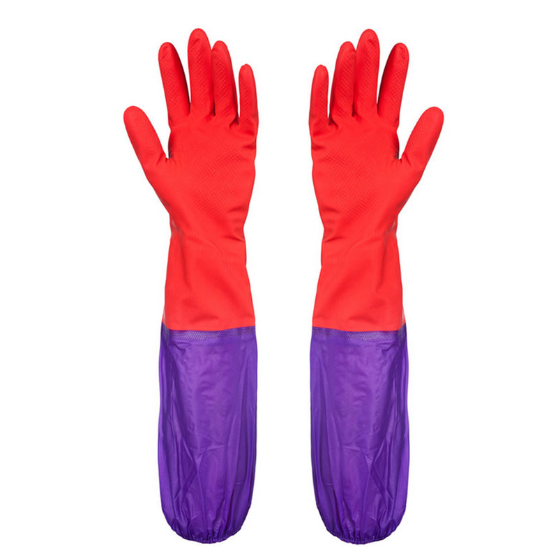 2016 Lone Rubber Gloves For Washing Dishes Red Rubber Gloves Cleaning Gloves Car Cleaning Waterproof Industrial Rubber Gloves(China (Mainland))
