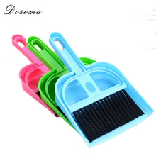 Creative Desktop Keyboard Brush Small Broom Suit Cleaning Small Broom Dustpan Combination Mini Storage Plastic Desk Cleaning Set(China (Mainland))
