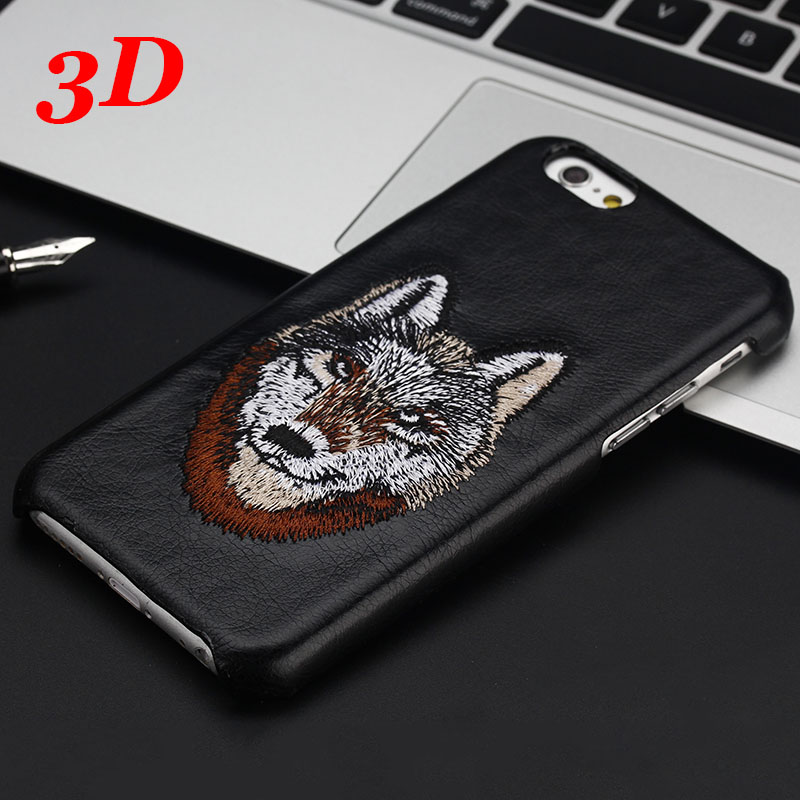 "3D Luxury Plastic + PU Leather hard Back Case for iphone 6 plus 6plus /6S plus 6splus Men Animal Cover Coque for iphone6 5.5""(China (Mainland))"