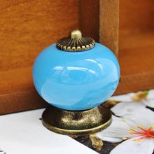 7 Colors Ceramic Handle Cabinet Door Pull Knobs Drawer Locker Cupboard Vintage Handle Furniture Hardware Product(China (Mainland))