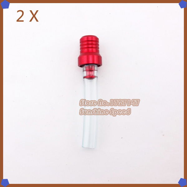 2pcs/pack Gas Fuel Tank Cap Valve Vent Breather Hose Tube Red For 140cc 150cc SSR Coolster Pit Dirt Bike ATV Quad(China (Mainland))