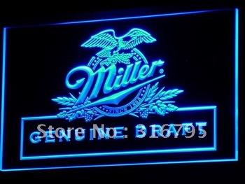 a054-b Miller beer Draft Bar Pub Club LED Neon Light Signs