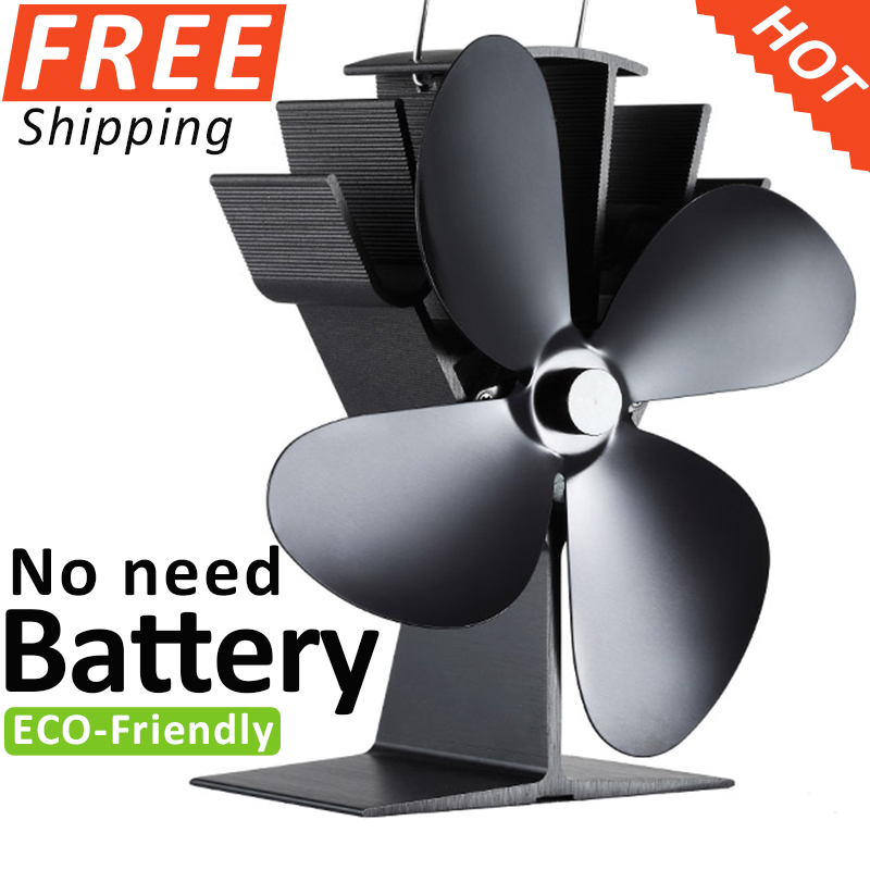 Фотография No Electronic Needed Aluminum Heat Powered Stove Fan Fireplace Fan Wood Burning Fan
