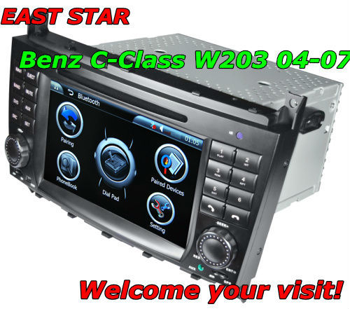 car PC dvd player Benz C-class W203 with radio usb sd mp3 mp4 bluetooth ipod gps dvb-t can bus and other functions ES-1755