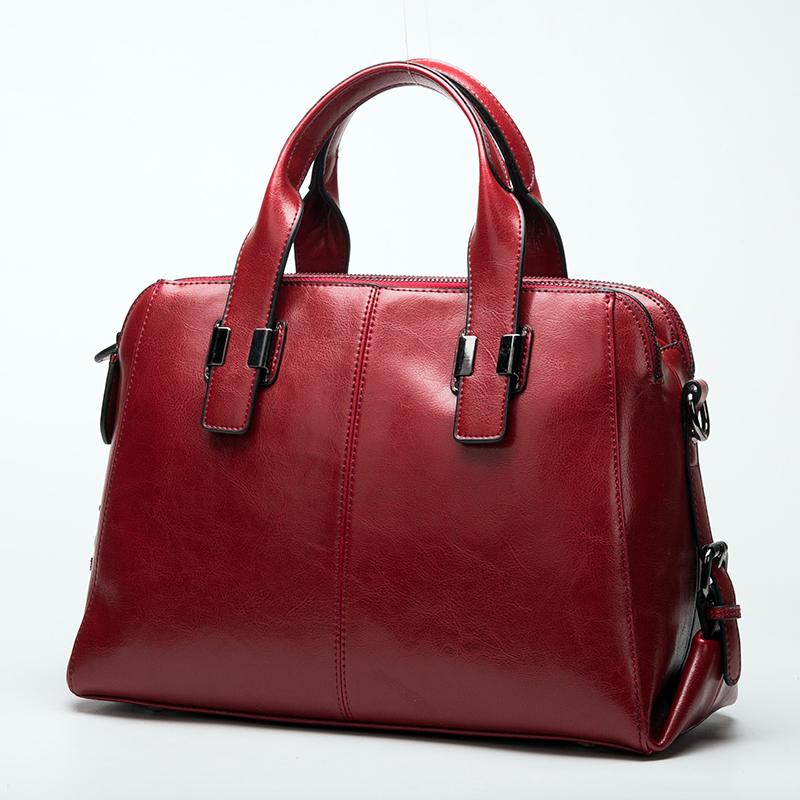 genuine leather OL work bag real leather tote bag oil wax cowhide brief shoulder bag casual shoulder bag messenger bag bolsas<br><br>Aliexpress