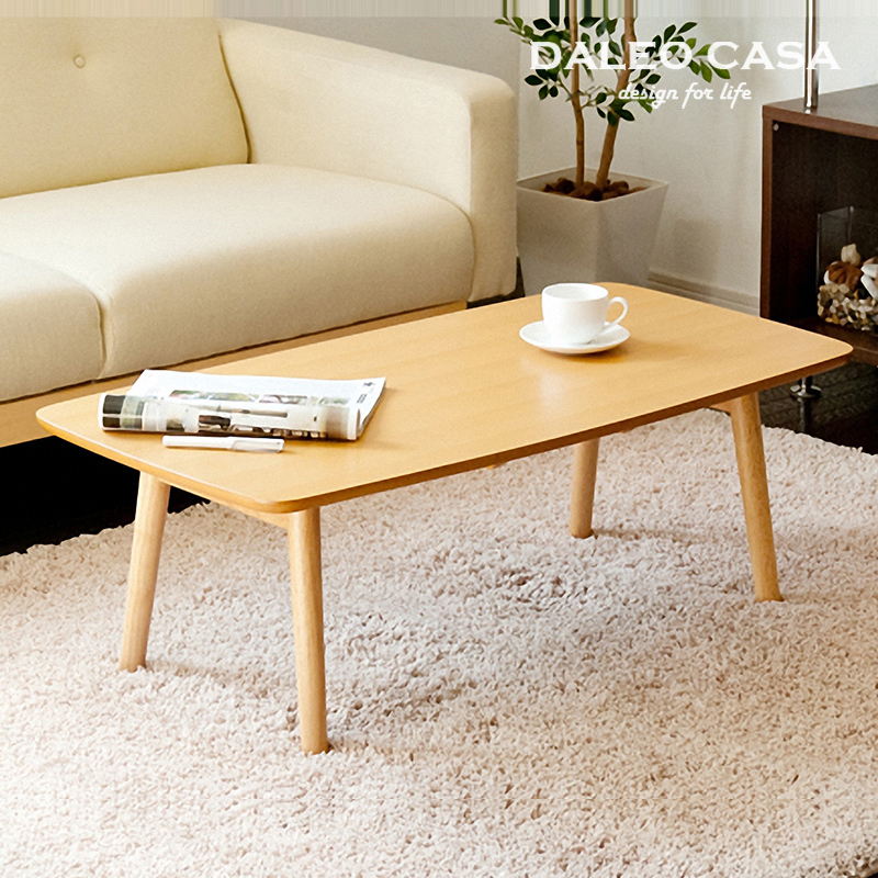 Scandinavian furniture small apartment minimalist retro for Small wood coffee table