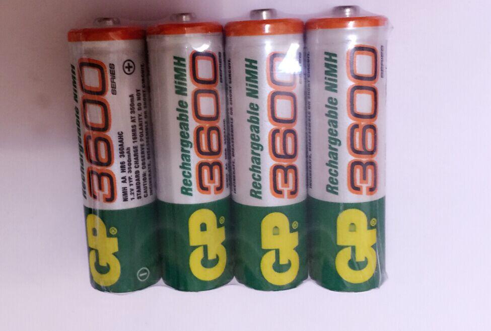 16pcs/lot original GP aa rechargeable battery 3600mah / gp 3600 / / rechargeable battery gp batteries 1.2V Ni-MH(China (Mainland))