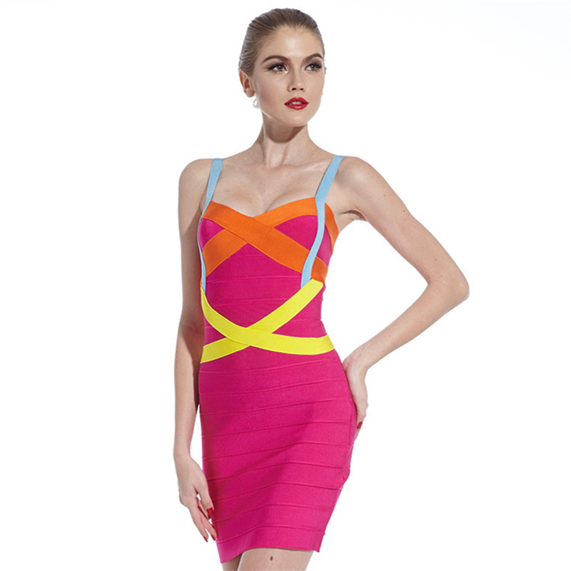 2015 Sexy Pruple Spaghetti Strap Bodycon Halter Bandage Dresses for PartyОдежда и ак�е��уары<br><br><br>Aliexpress