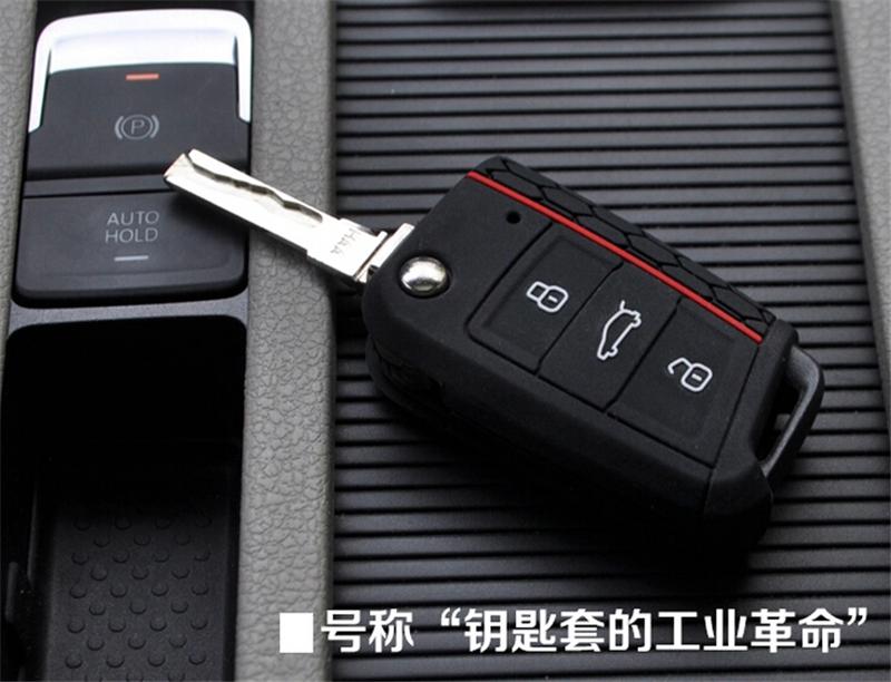 Car Accessories Key Case Key Bag Key Cover For Volkswagen VW Golf 7 mk7 Skoda Octavia