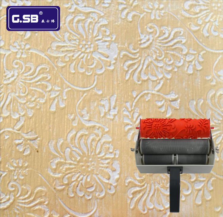 Decorative painting tools of 7 inch paint roller brush and for Wall painting utensils