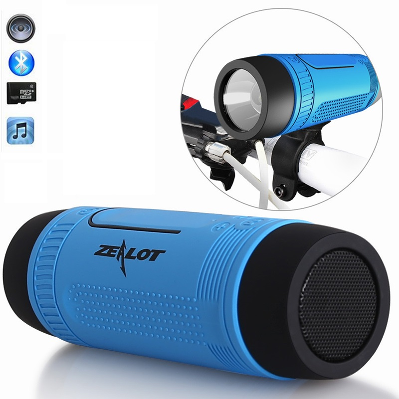 Zealot S1 Bluetooth Speaker LED Flashlight Altavoces Wireless Portable Audio Subwoofer Waterproof Outdoor Riding Stereo Speakers(China (Mainland))