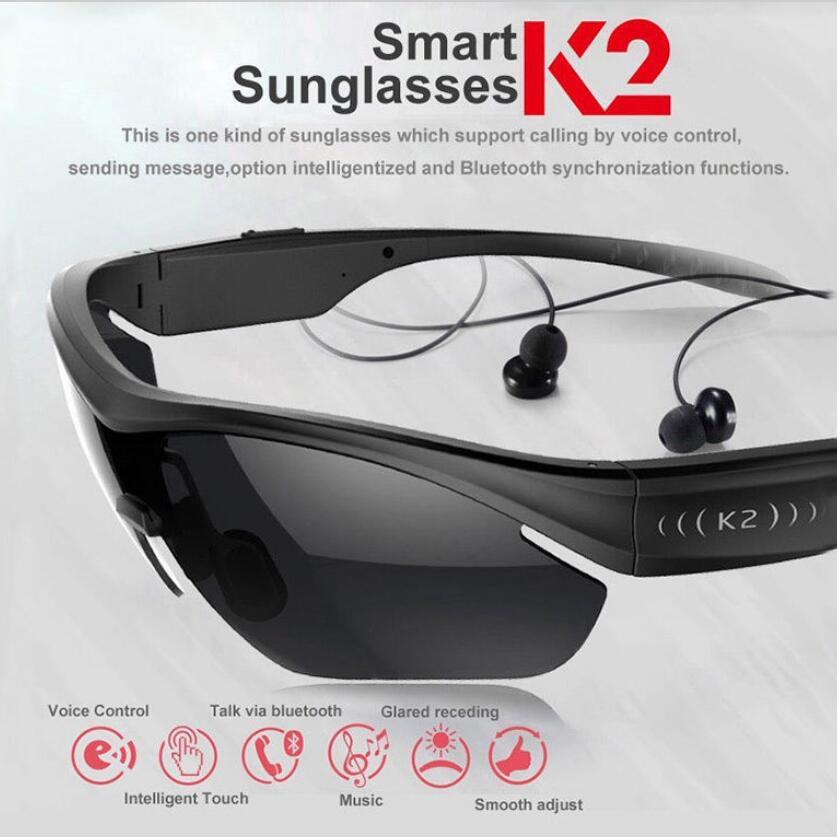 Smart Touch Polarized Sunglasses Bluetooth 4.0 Stereo Headphone Hot Voice Contro