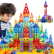 164pcs Mini Magnetic Designer Construction Set Model & Building Toy Plastic Magnetic Blocks Educational Toys For Kids Gift(China (Mainland))