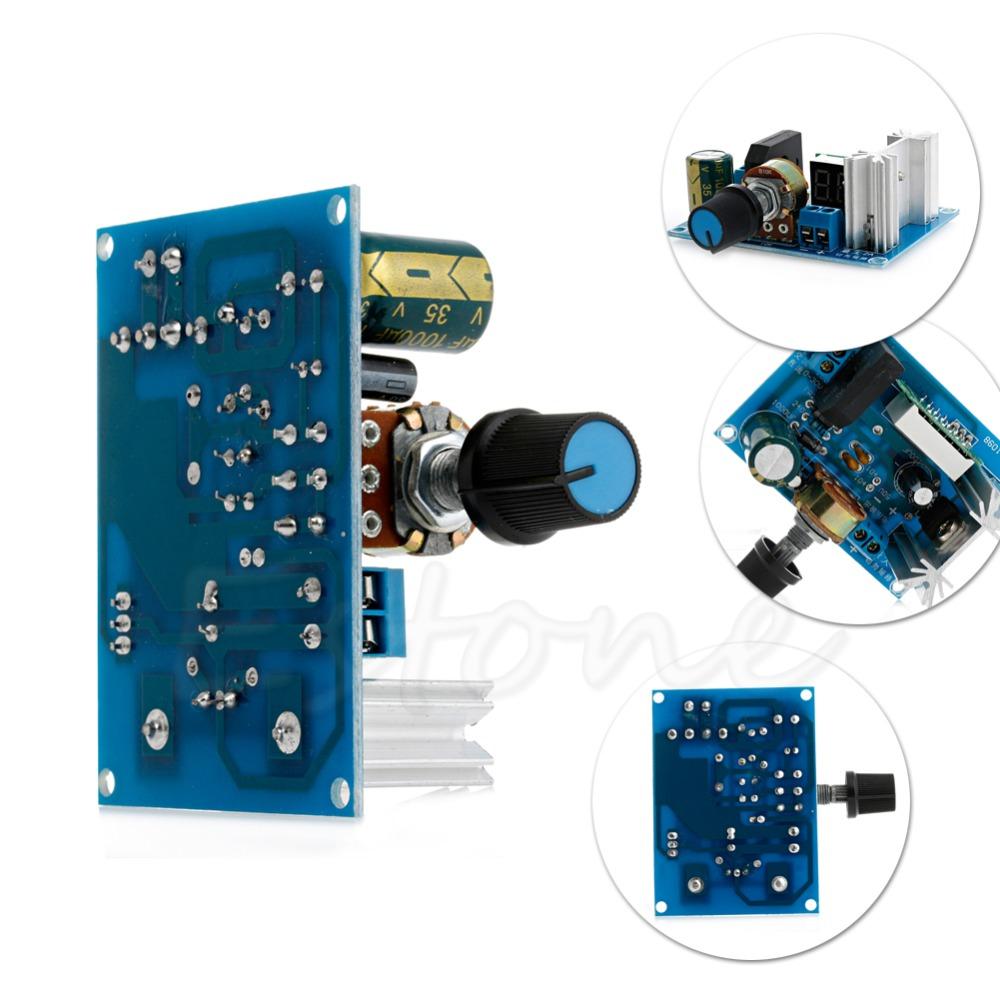 Hot LM317 Adjustable Voltage Regulator Step-down Power Supply Module LED Meter<br><br>Aliexpress
