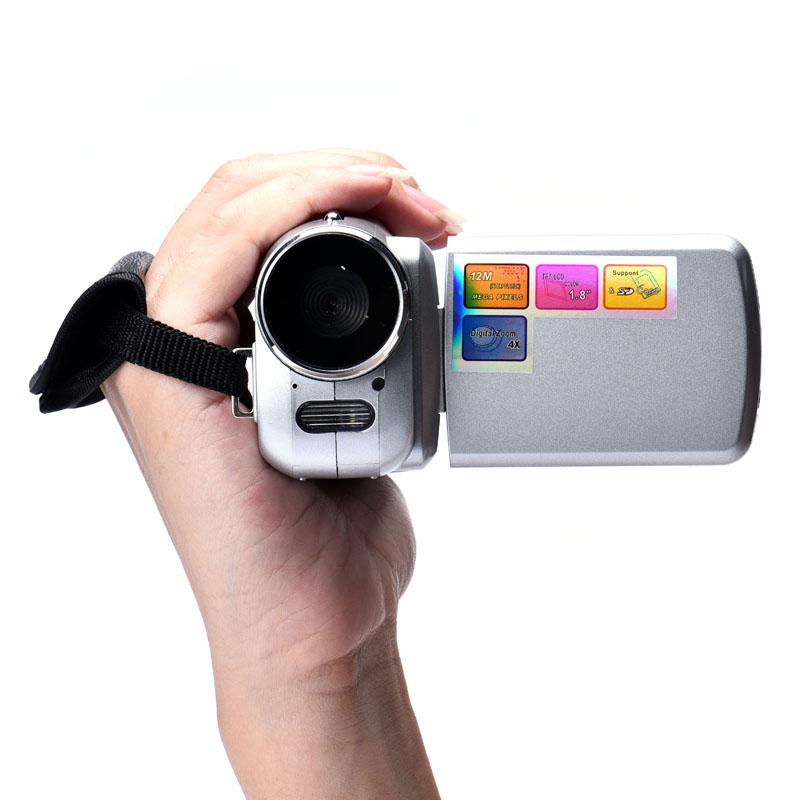 Onfine Leo 20161.8 Inch TFT 4X Digital Zoom Mini Video Camera Silver #25(China (Mainland))