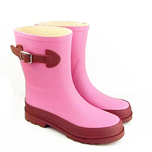 ferr shipping Rain boots short design female water shoes fashion knee-high rainboots(China (Mainland))