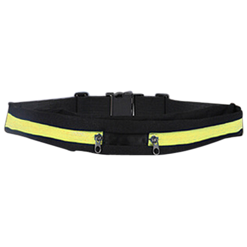 Hip Waist Money Pouch Sport Wallet Double Yellow,FREE SHIPPING(China (Mainland))